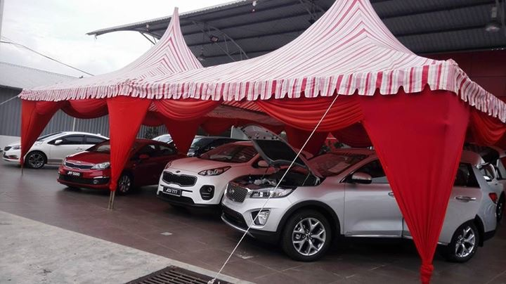 Kia test drive event