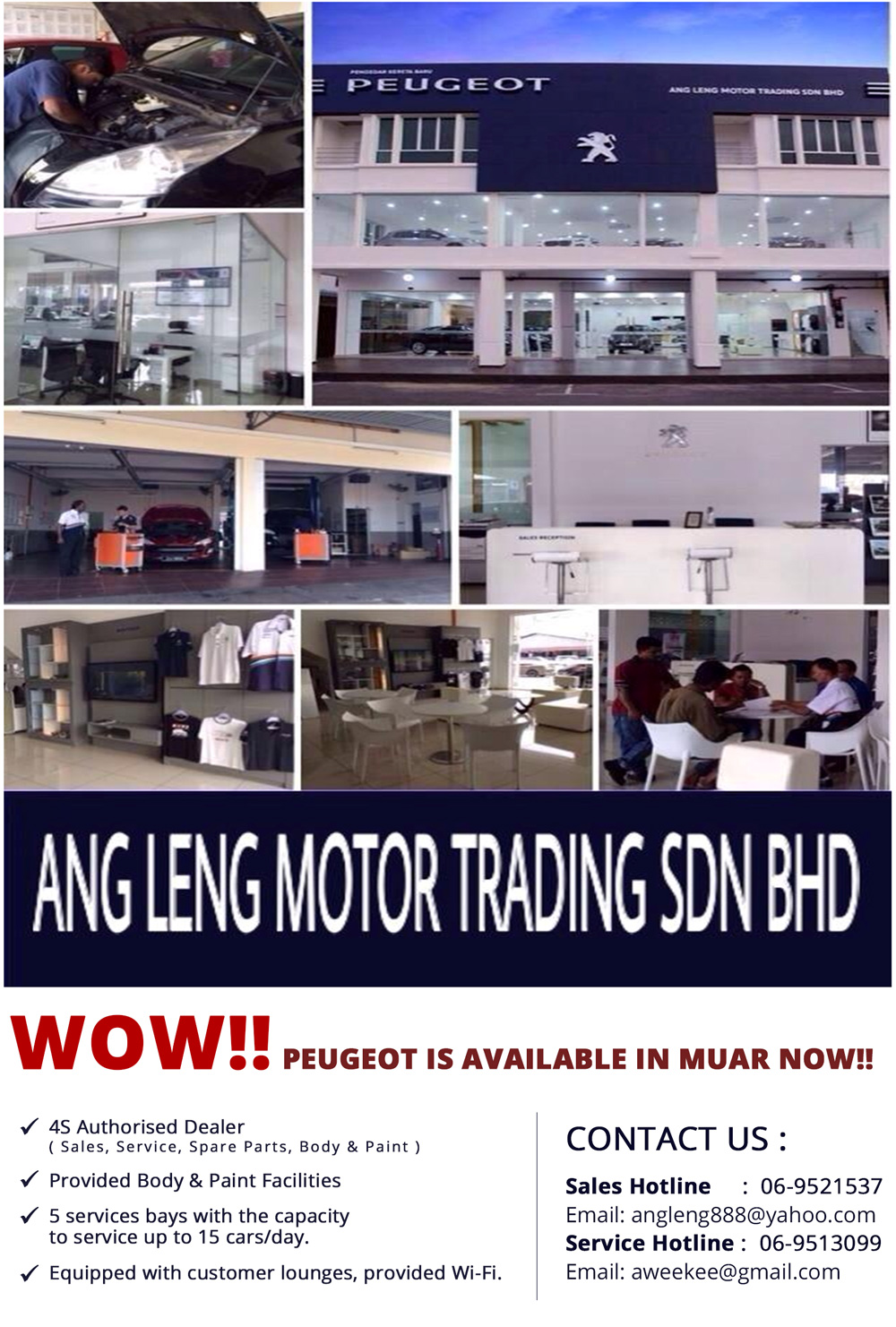 WOW!! PEUGEOT,KIA AND FORD ARE AVAILABLE IN MUAR NOW!!
