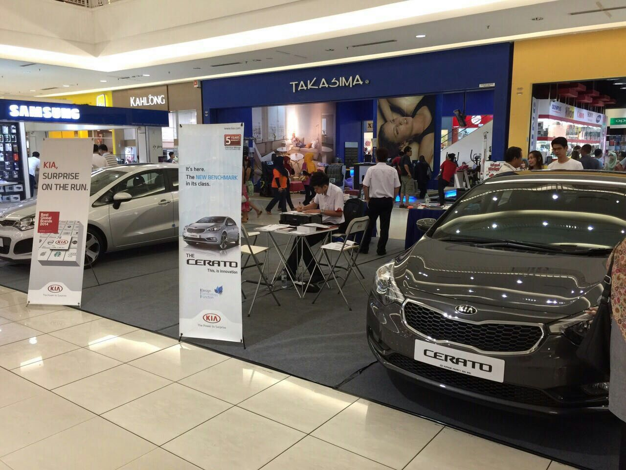 Batu Pahat BP mall Kia roadshow on 3-5 April