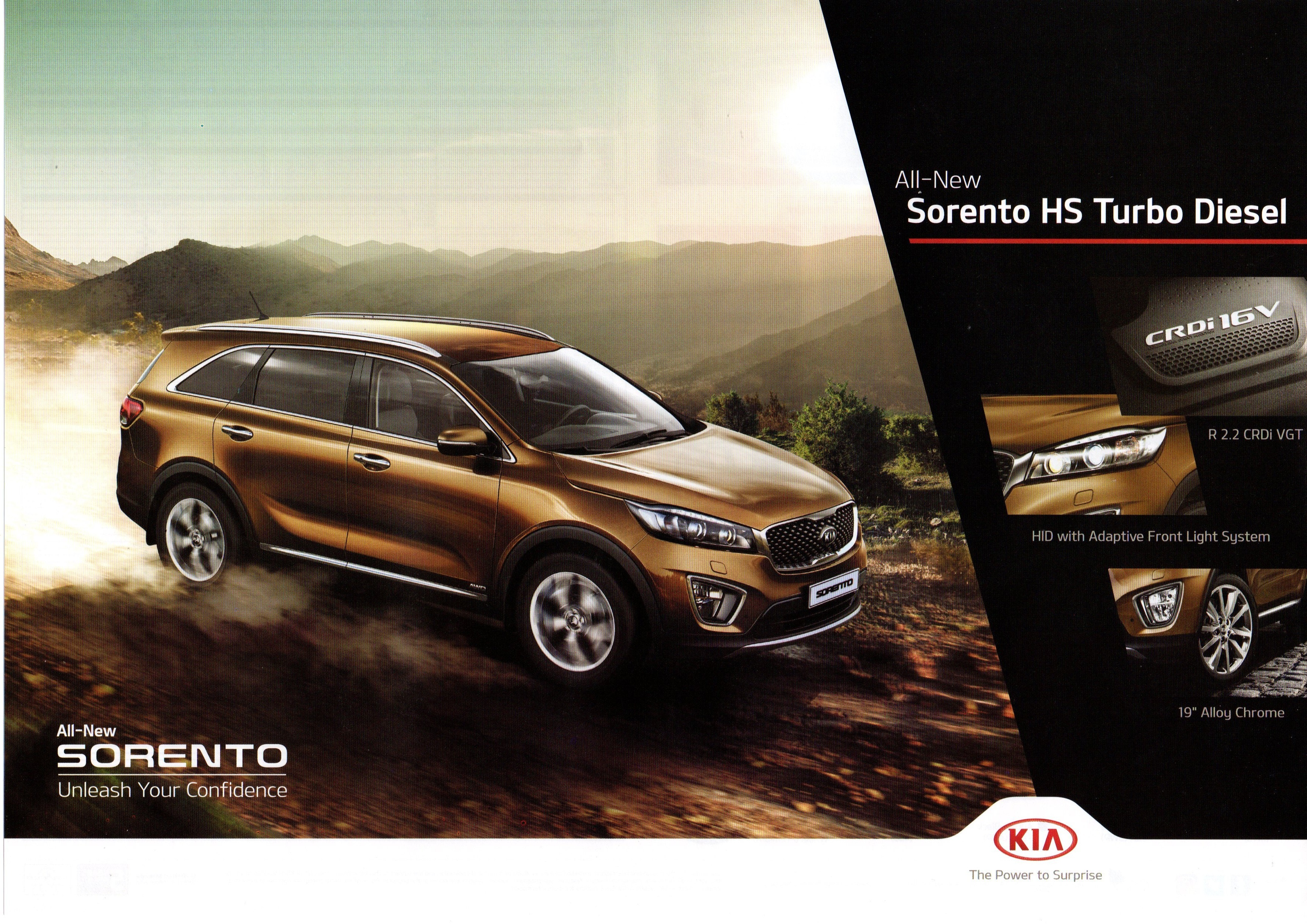 AN INVITATION TO THE NEW KIA SORENTO HS TURBO DIESEL 2.2 VGT