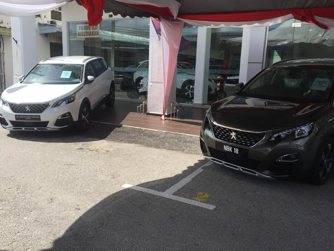 Peugeot test drive event
