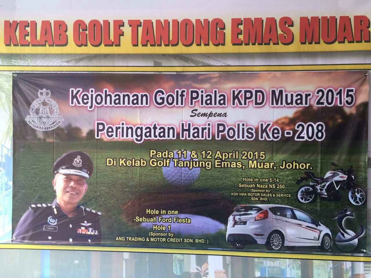 Muar Golf Tournament on April 10&11